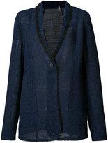 Elie Tahari knitted blazer - women - Cotton/Polyester/Viscose - 4