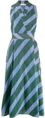 Tory Burch Striped Wrap-Style Dress