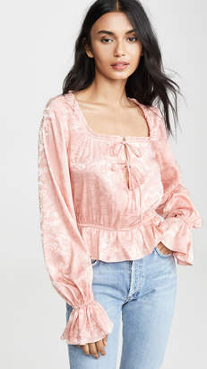 Divine Heritage Long Sleeve Blouse