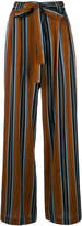 Roberto Collina striped high waisted trousers