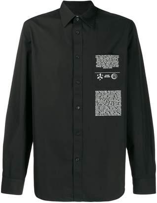 Diesel printed cotton-poplin shirt