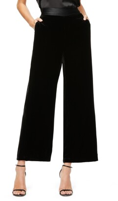 Good American The Luxe Crop Velvet Pants