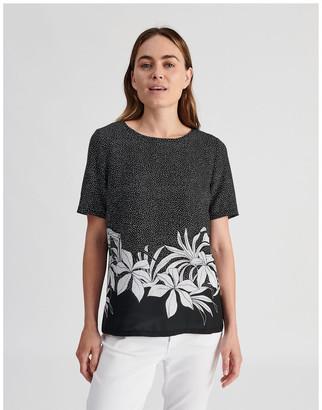 Regatta Short Sleeve Woven Front Knit