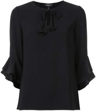 Paule Ka frill sleeve blouse