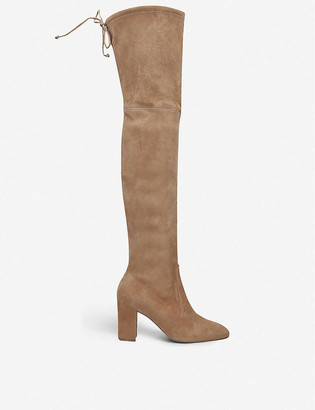 Stuart Weitzman Zuzanna 80 stretch-suede over-the-knee boots
