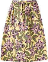 RED Valentino floral print skirt - women - Cotton/Spandex/Elastane - 42