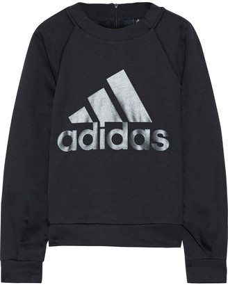 adidas Printed Stretch-jersey Sweatshirt