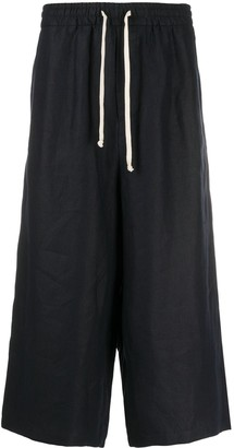 Societe Anonyme Drawstring Cropped Trousers