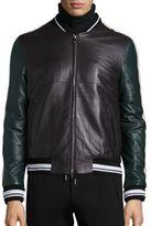Plac Retro Spectrum Colorblock Lambskin Leather Jacket