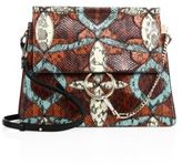 Chloé Medium Faye Snakeskin Patchwork Shoulder Bag
