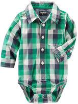 Osh Kosh Plaid Button-Front Bodysuit
