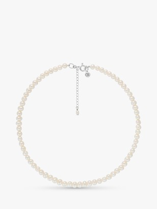 Claudia Bradby Sterling Silver Freshwater Pearl Collar Necklace, White