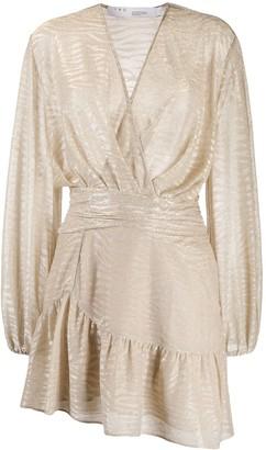 IRO wrap front zebra print dress