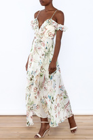 luxxel Off Shoulder Ruffle Maxi