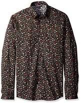 Just Cavalli Men's Variant Long Sleeve Button Down Shirt