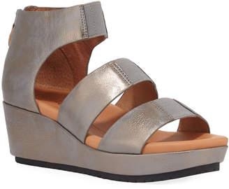 Gentle Souls Milena Metallic Demi-Wedge Sandals