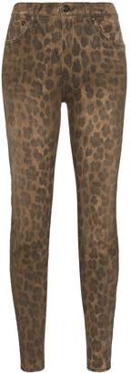 R 13 Leopard-Print Skinny Jeans