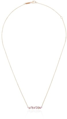Suzanne Kalan 18kt Rose Gold Sapphire Bar Necklace