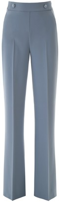 Pinko High-Waisted Flared Trousers