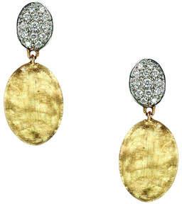 Marco Bicego Siviglia 18K Gold & Pave Diamond Double-Drop Earrings