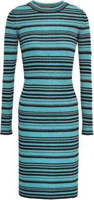 Missoni Metallic Striped Stretch-knit Dress