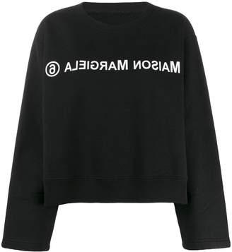 MM6 MAISON MARGIELA reverse logo sweatshirt