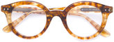 Bottega Veneta round frame glasses - unisex - Acetate - One Size