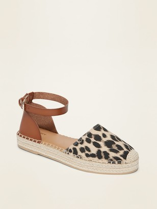 Old Navy Canvas/Faux-Leather Espadrille Shoes for Women