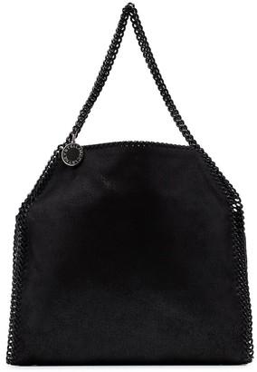 Stella McCartney black Falabella chain detail faux leather shoulder bag