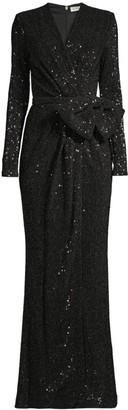 Rebecca Vallance Mona Sequin Wrap Gown