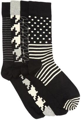 Happy Socks Dot Crew Socks Gift Box - Pack of 4