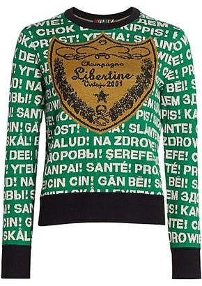 Libertine Champagne Cashmere Blend Sweater