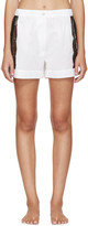 Raphaëlla Riboud White Lace-Inset Museletta Shorts