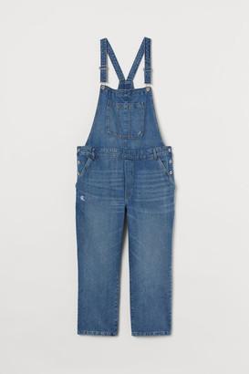 H&M H&M+ Denim Bib Overalls - Blue