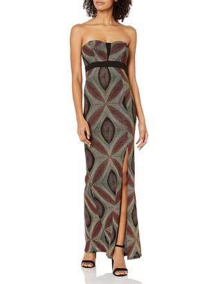 BCBGeneration Women's Metallic Strapless Evening Dress