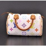Louis Vuitton very good (VG White Multicolor Canvas Mini Speedy City Bag