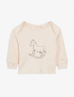 The Little Tailor Rocking horse cotton top 0-18 months