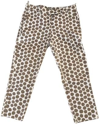 Cappellini Ecru Cotton Trousers for Women