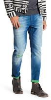 Scotch & Soda Distressed Contrast Slim Fit Jeans