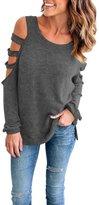 YMING Women's Casual Loose Three Quarter Sleeve Shirts T-shirt Top 4XL
