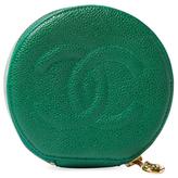 Chanel Vintage Green Caviar Jewel Case