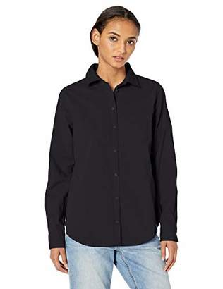 Amazon Essentials Long-Sleeve Patterned Shirt Button,US M (EU M - L)