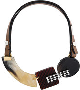 Marni strass horn necklace