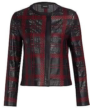 Akris Women's Leather Weave Jacket