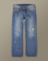 True Religion Boys Indigo Multi Stitch Ricky Straight Leg Jean