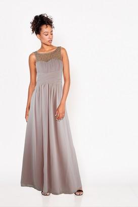 Little Mistress Grace Bridesmaid Blush Embellishment Sweetheart Maxi Dress