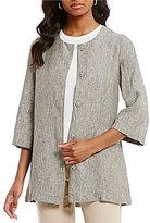 Preston & York Maddie Single Breasted Linen Jacket