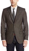Perry Ellis Men's Tonal Plaid Suit Jacket