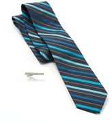 Apt. 9 Plankton Striped Skinny Tie with Tie Bar - Men