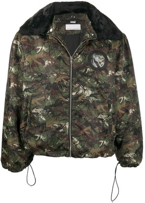 Random Identities Camouflage-Print Hooded Jacket